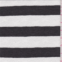 Charcoal/White Stripe Sweater Knit