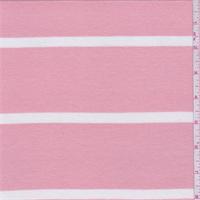 Creamy Peach/Ivory Stripe T-Shirt Knit