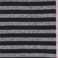 Black/Charcoal Heather Stripe Jersey Knit