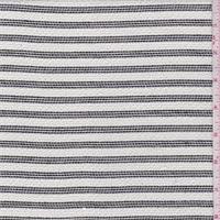 White/Black Triple Stripe Suiting