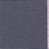 Navy/Grey Stripe Jersey Knit