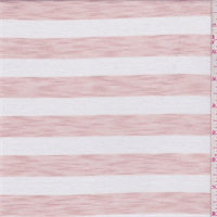 Clay Pink/White Stripe T-Shirt Knit