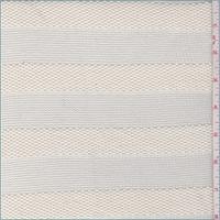 Cream Stripe Sweater Knit