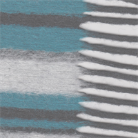 *5 1/2 YD PC--Teal/Black/Grey Stiped Wool with Fringe