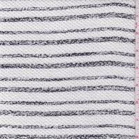 White/Black Mottled Stripe Sweater Knit