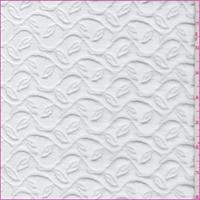Creamy White Botanical Jacquard Knit