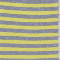 Grey/Lemon Yellow Stripe Thermal Knit
