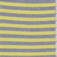 Grey/Lemon Yellow Stripe Thermal Knit