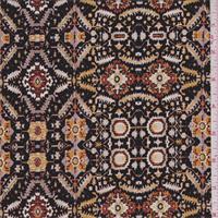 Black/Gold Multi Persian Jersey Knit