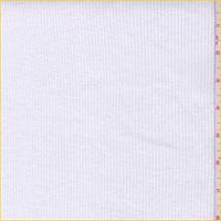 Off White Cotton Rib Knit