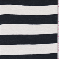 Ivory/Black Stripe Sweater Knit