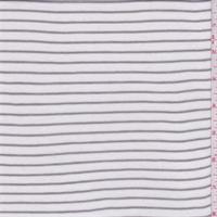 White/Taupe Stripe Sweater Knit