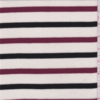 Cream/Black/Berry Stripe Sweater Knit