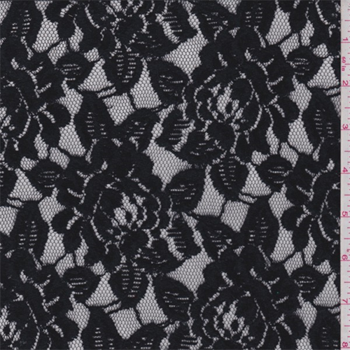 ash black rose mesh lace fabric by the yard 27706410957