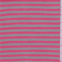 Cocoa/Coral Stripe Rayon Jersey Knit