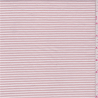 White/Pink Clay Stripe Jersey Knit