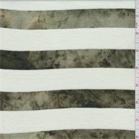 Cream/Olive Marble Stripe T-Shirt Knit