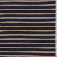 Black/Caramel Stripe Jersey Knit
