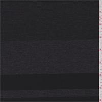 Charcoal/Black Stripe Double Knit