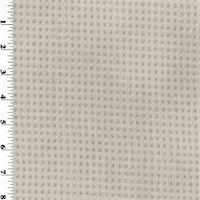 *4 YD PC--Polartec Single Sided Grid Shag Fleece - Ivory