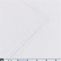 *2 3/4 YD PC--White French Terry Jersey Knit
