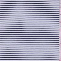 White/Dark Ink Stripe Thermal Knit