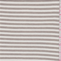 White/Pumice Stripe Thermal Knit