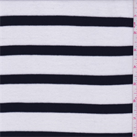 White/Black Stripe Ribbed Sweater Knit