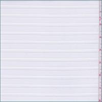 Optic White Stripe Organza