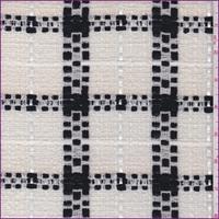 Cream/Ebony Plaid Wool Boucle Suiting