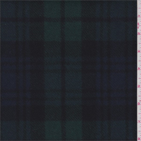 Blackwatch Plaid Melton Wool Coating