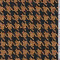 Orange/Walnut Houndstooth Wool Coating