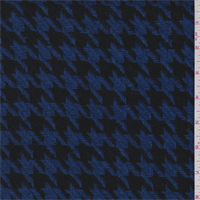 Royal/Black Houndstooth Wool Coating