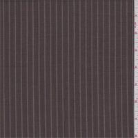 Mocha/Slate Stripe Wool Suiting