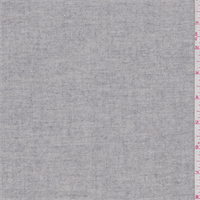 Heather Sterling Grey Wool Flannel Suiting