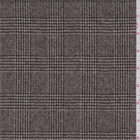 Chocolate Glen Plaid Wool Suiting