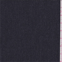 Black/Charcoal Micro Check Brushed Tweed Wool Suiting