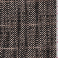 Walnut/Putty Plaid Boucle Wool Jacketing