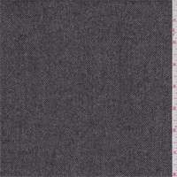 Black/Ecru Twill Wool Blend Suiting