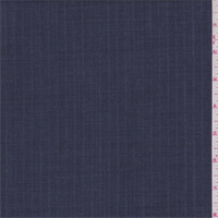 Denim Blue Stripe Wool Blend Suiting