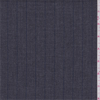 Dark Grey/Blue Pinstripe Wool Blend Gabardine Suiting
