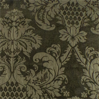 Dark Brown/Taupe Ogee Matelasse Chenille  Decorating Fabric