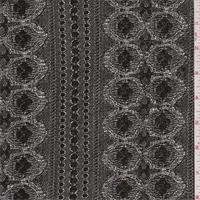 *4 YD PC--Black/Silver/Gold Metallic Lace