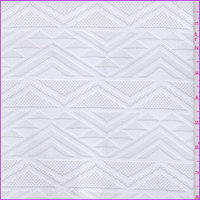 *1/2 YD PC--Cloudy White Geometric Stripe Stretch Lace