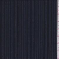 Onyx/Ink Stripe Wool Suiting