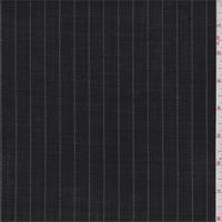 Black/Pale Grey Stripe Tropical Wool Suiting