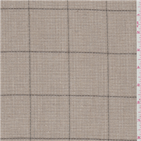*1 7/8 YD PC--Taupe Check Rayon Suiting