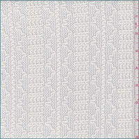 *2 YD PC--Creamy White Wavy Stripe Sweater Knit