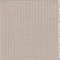 *4 YD PC--Cream/Beige Herringbone Stripe Poly Blend Suiting