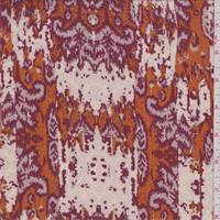 Deep Orange/Burgundy Baroque Faille